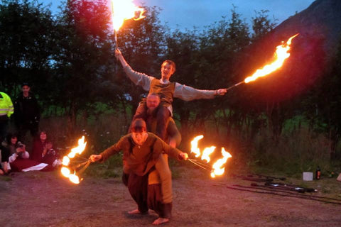 Fire performers at Lofotr Viking Festival