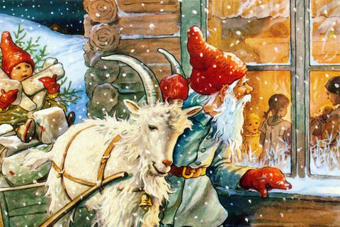 The Yule Goat with Elves / Gnomes - Viking Dragon Blogs