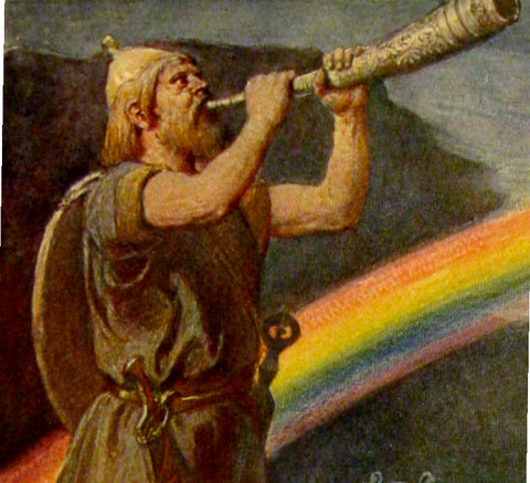 Heimdall Blowing His Mighty Horn - Viking Dragon Blogs