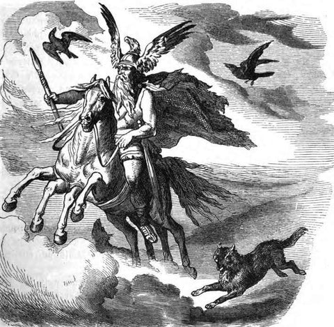 Odin Riding Sleipnir - Viking Dragon Blogs