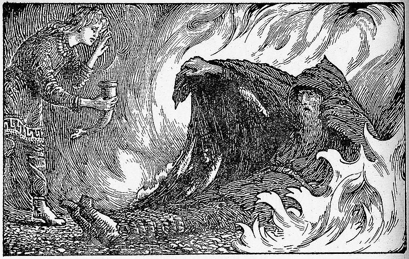 Odin and Geirroth - Norse Gods - Norse Mythology - Viking Dragon Blogs