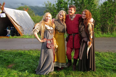 Me with some of my glamorous Viking friends!