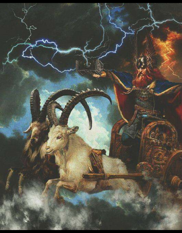 Thor's Wain / Chariot Being Pulled by his Goats - Viking Dragon Blogs