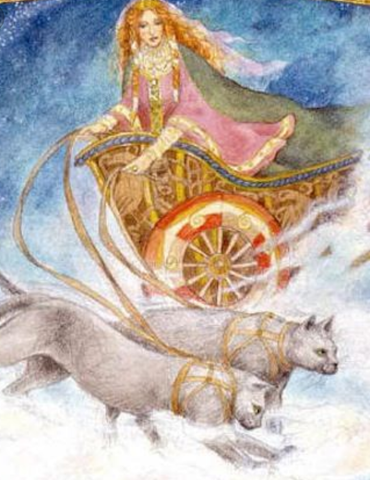 Freya's wain is drawn by cats - Viking Dragon Blogs