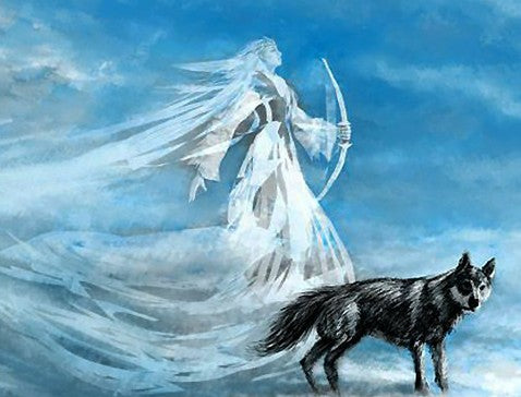 The Giantess Skadi with Her Wolf - Viking Dragon Blogs