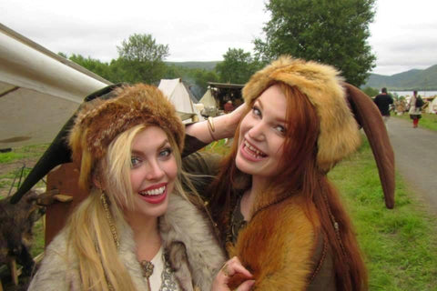 Sol and Marita at Lofotr Viking Festival - Viking Dragon Blogs