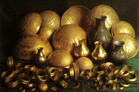 Trésor d'or antique, photo de Wikipedia, crédits complets dans l'article précédent - Blogs de dragon viking