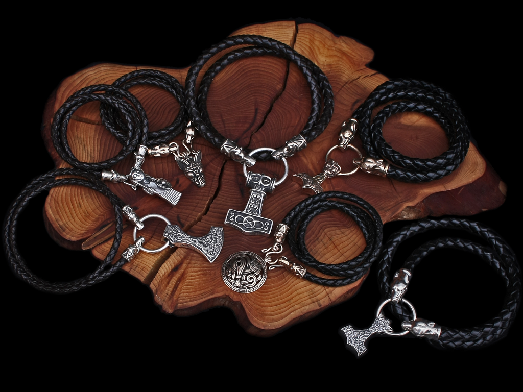 Braided Leather Viking Necklaces - Viking Jewelry