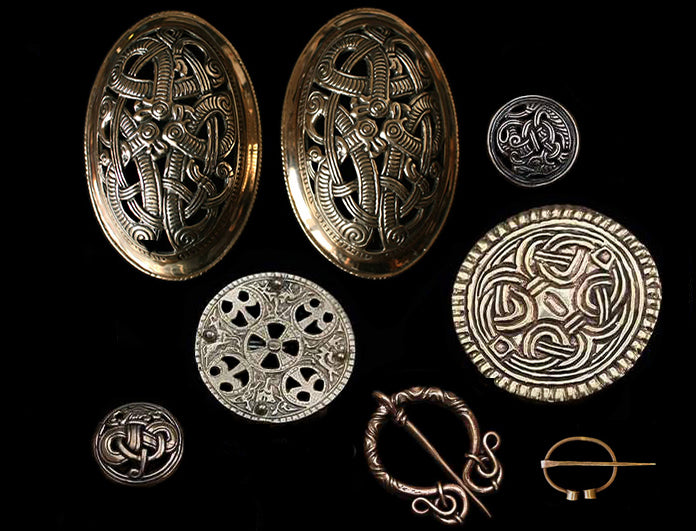Replica Viking Brooches in Solid Bronze - Viking Jewelry