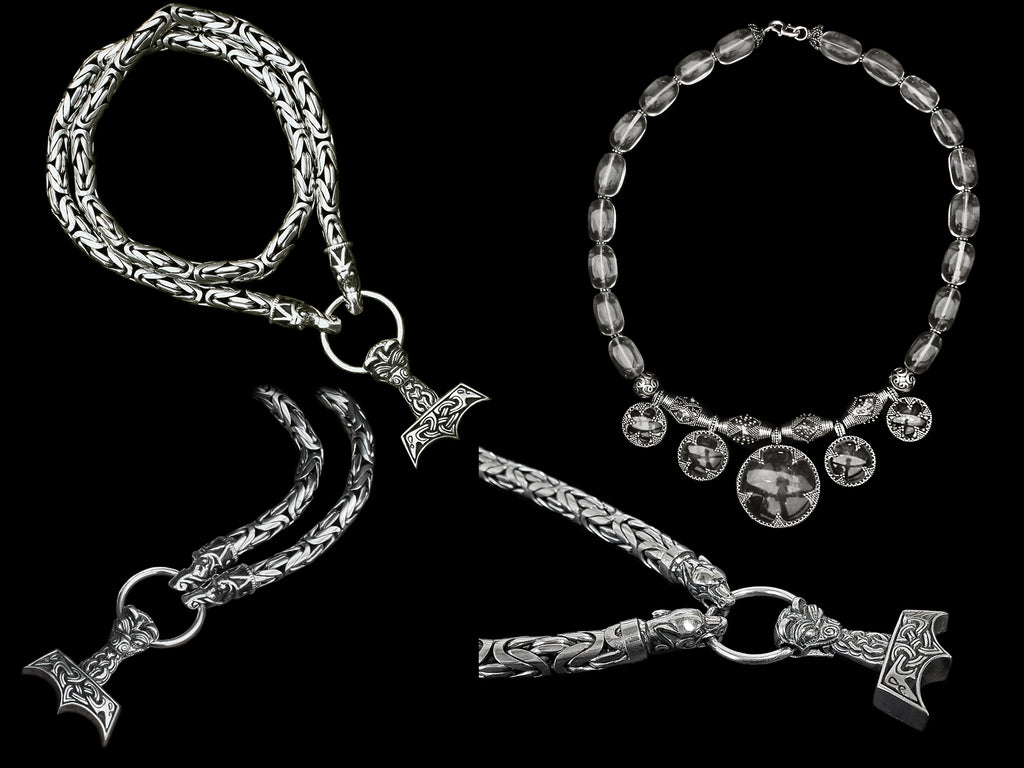 Extra Heavy Silver Viking Necklaces - Viking Jewelry