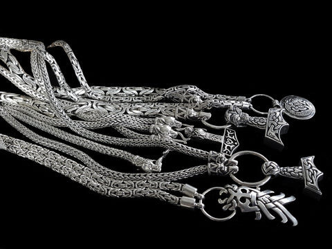 Heavy Silver Viking Necklaces - Viking Jewelry