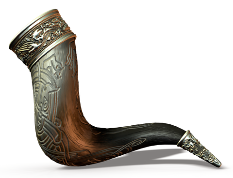 Drinking horn, retrieved from https://i.imgur.com/S9jNkZC.png--Viking Dragon Blogs