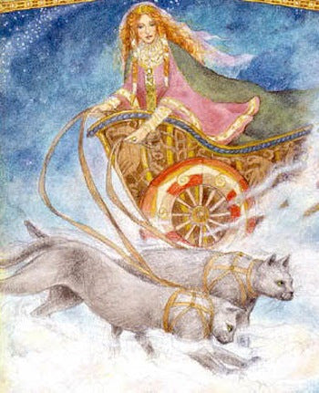 Freya's wain Drawn by Cats - Viking Dragon Blogs