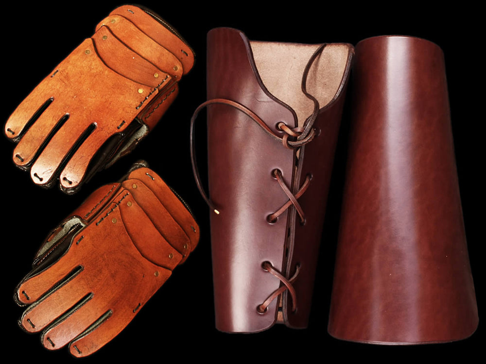 Viking Re-Enactment Gloves / Gauntlets & Armguards From The Viking Dragon