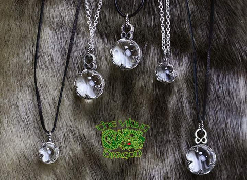 Gotland Crystal Ball Pendants in 2 Sizes from The Viking Dragon