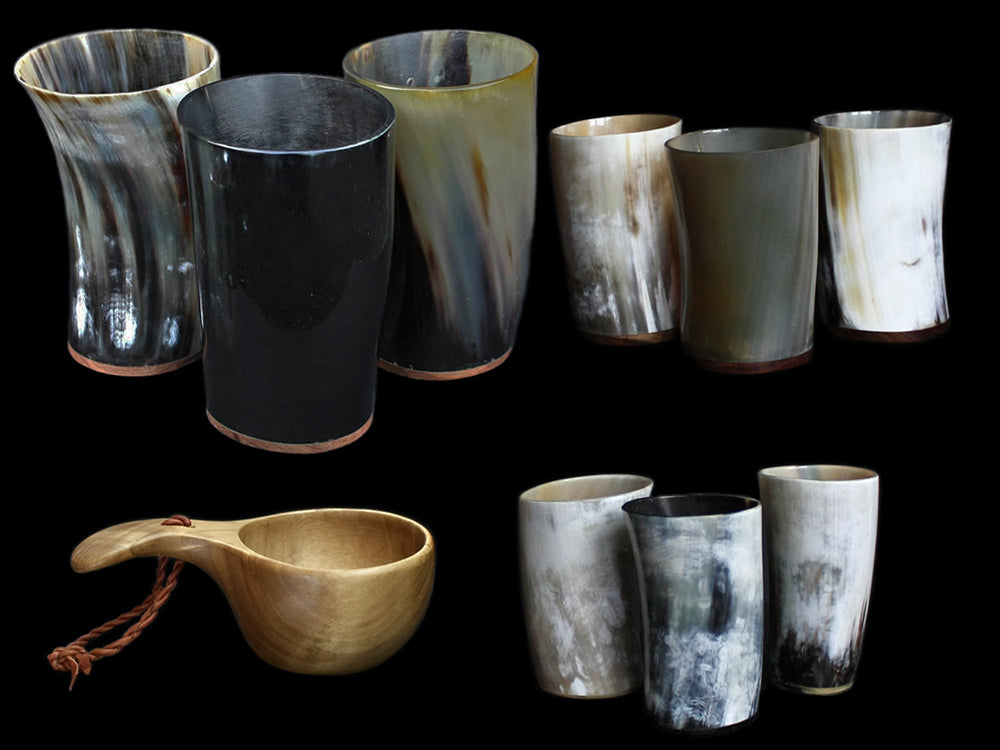 Horn Viking Mead Cups & Wooden Cups - Viking Feasting Supplies