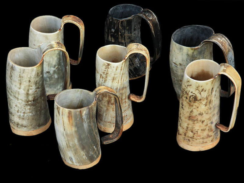 Horn Beer Mugs - Viking Feasting Supplies