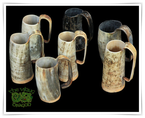 Horn Beer Mugs from The Viking Dragon - Feasting Supplies