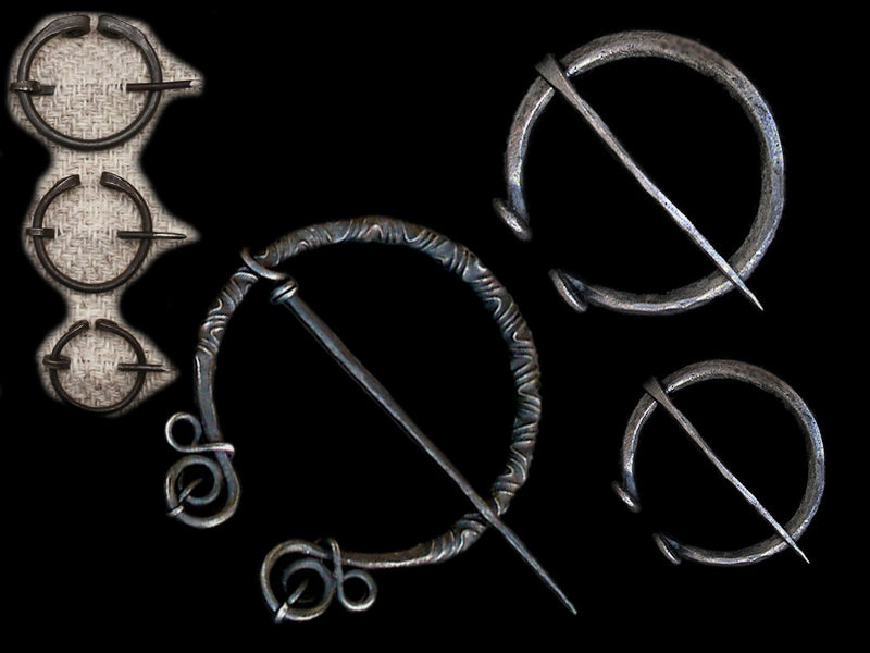 Replica Viking Brooches / Penannular Brooches / Cloak Pins in Iron - Viking Clothing Accessories