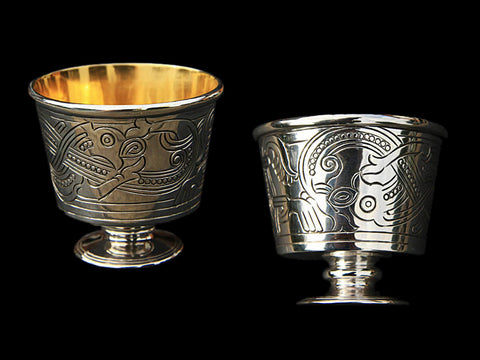 Replica Jelling Cups In Silver & Gold - Viking Ceremonial Supplies