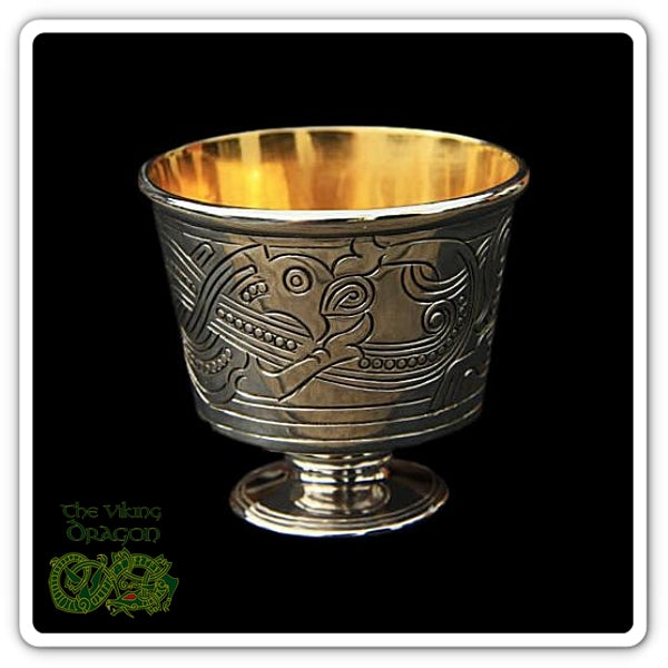 Replica Jelling Cups In Silver & Gold From The Viking Dragon