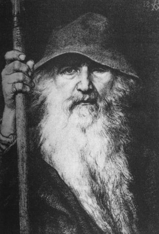 Odin the Wanderer, Georg von Rosen,1886--Viking Dragon Blogs