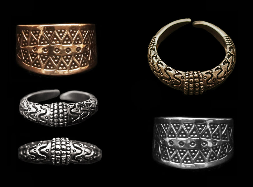 Replica Viking Rings in Silver & Bronze - Viking Jewelry