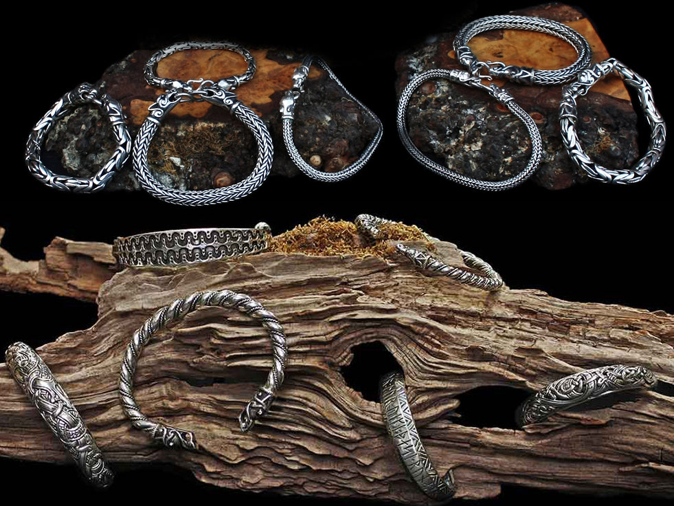 Silver Viking Bracelets & Silver Viking Arm Rings - Viking Jewelry