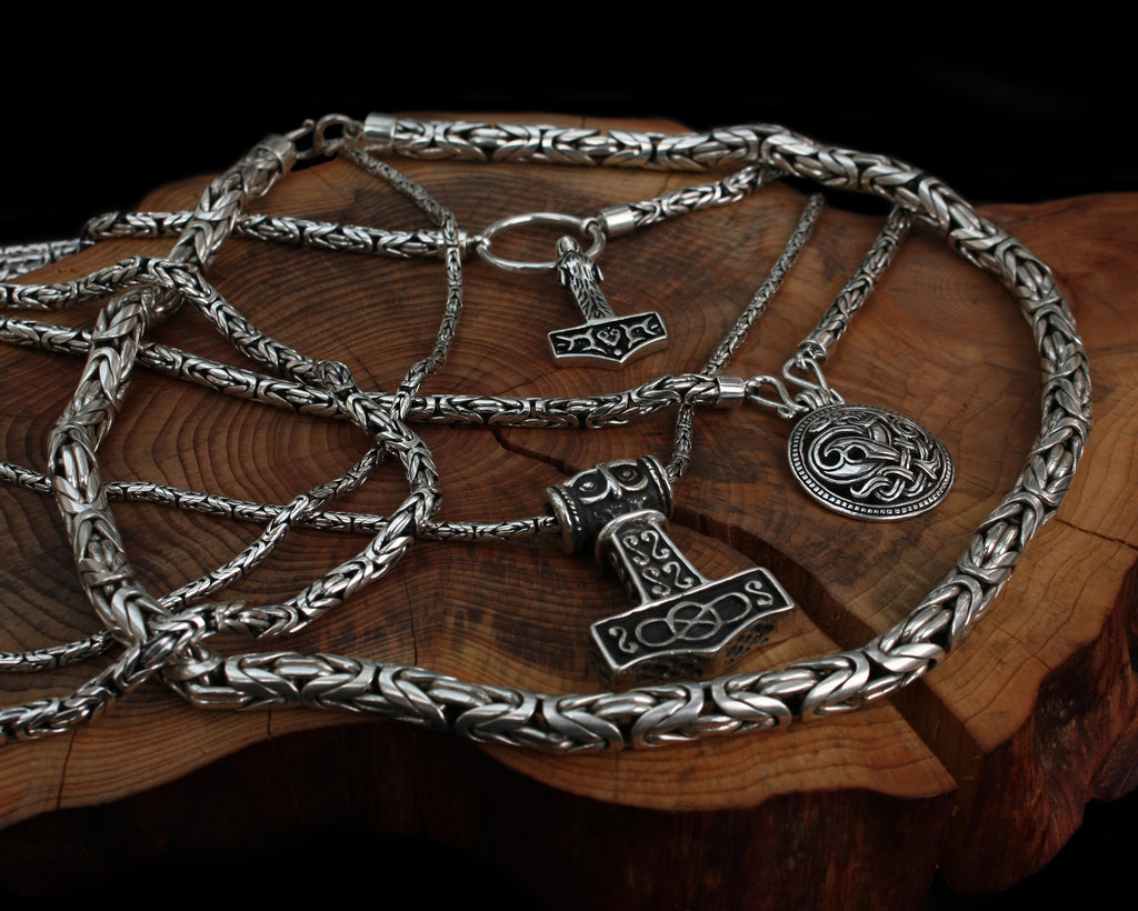 Silver Viking Necklaces - Viking Jewelry