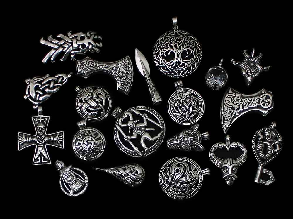 Silver Viking Pendants - Viking Jewelry