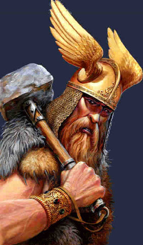 Thor with winged helmet and hammer, retrieved from https://pursuingveritas.com/2015/03/17/c-s-lewis-on-myth-part-i/ --Viking Dragon Blogs