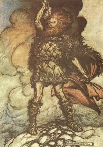 The God Thor Smiting the Giant - Viking Dragon Blogs