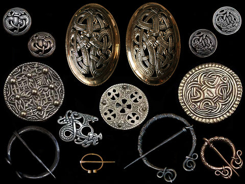 Replica Viking Brooches / Cloak Pins - Viking Clothing / Viking Jewelry