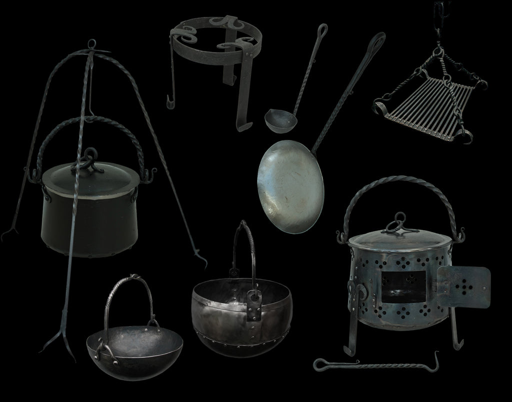 Viking Camp Cooking Equipment - Cookng Pots, Pans & Grill