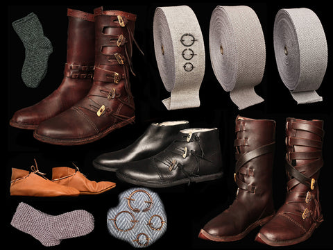 Viking Shoes, Boots, Leg Wraps & Socks - Viking Clothing / Costume