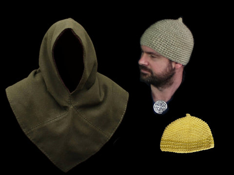 Wool Viking Hats & Wool Hedeby Hoods From The Viking Dragon