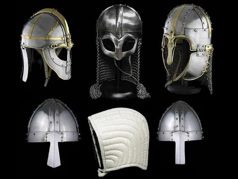 Replica Viking Saxon & Norman Helmets - Viking Warrior Costume
