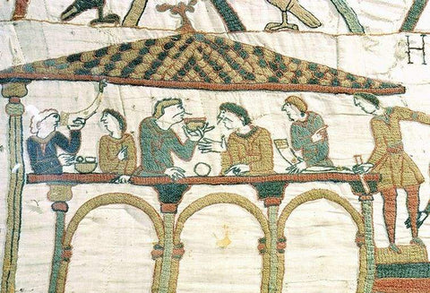 Bayeux Tapestry showing Drinking from Horns - Viking Dragon Blogs