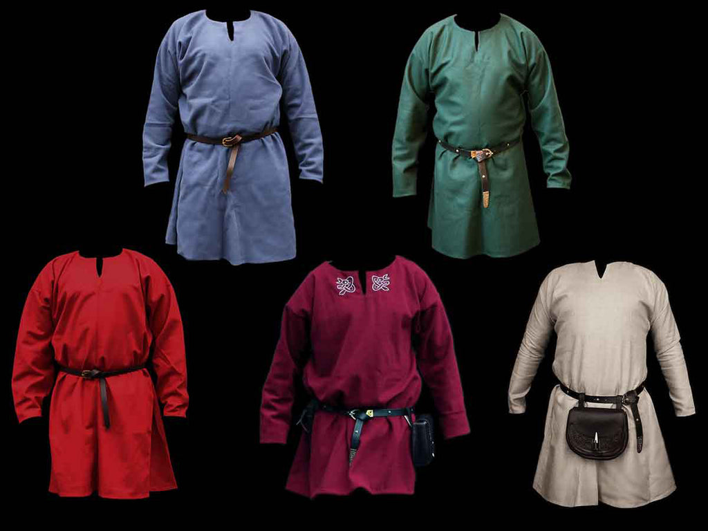 Wool & Linen Replica Viking Tunics - Men's Viking Clothing / Costume
