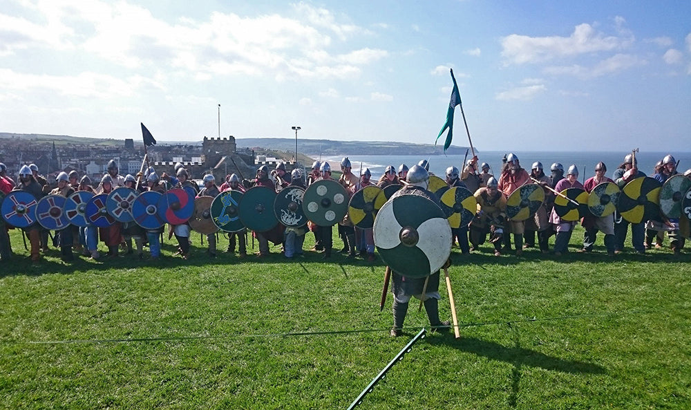 Vikings at Whitby - North Yorkshire UK