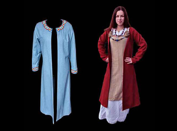Women's Viking Coats in Wool - Viking Costume