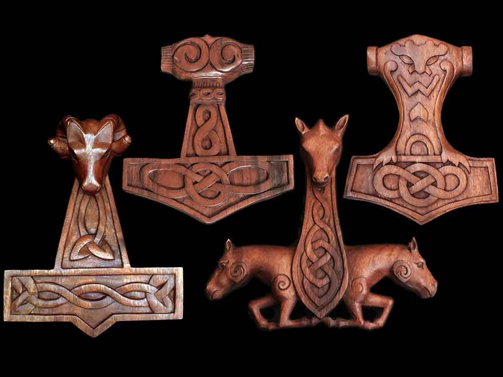 Viking Wooden Wall Hangings - Viking Ornaments