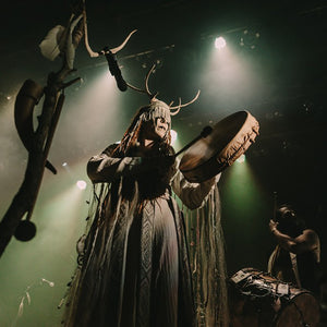Heilung's Karolina Janikunaite on Stage - Viking Dragon Music