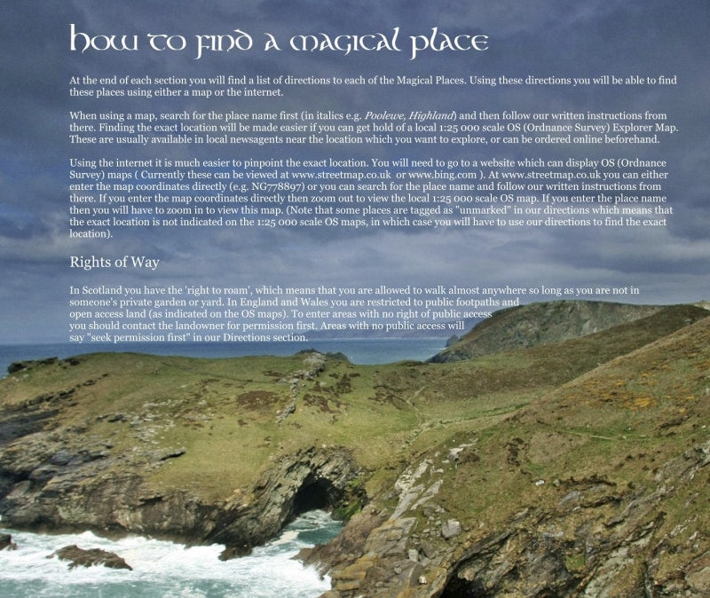 Magical Places Of Britain Book - How to Find a Magical Place - Viking Dragon Books