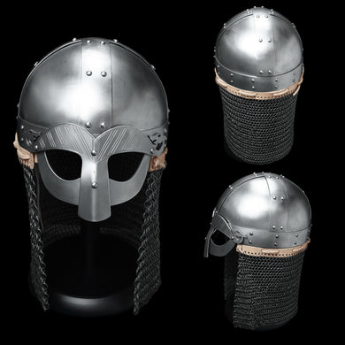 Gjermundbu Viking Helmet with Aventail - Viking Battle Protection