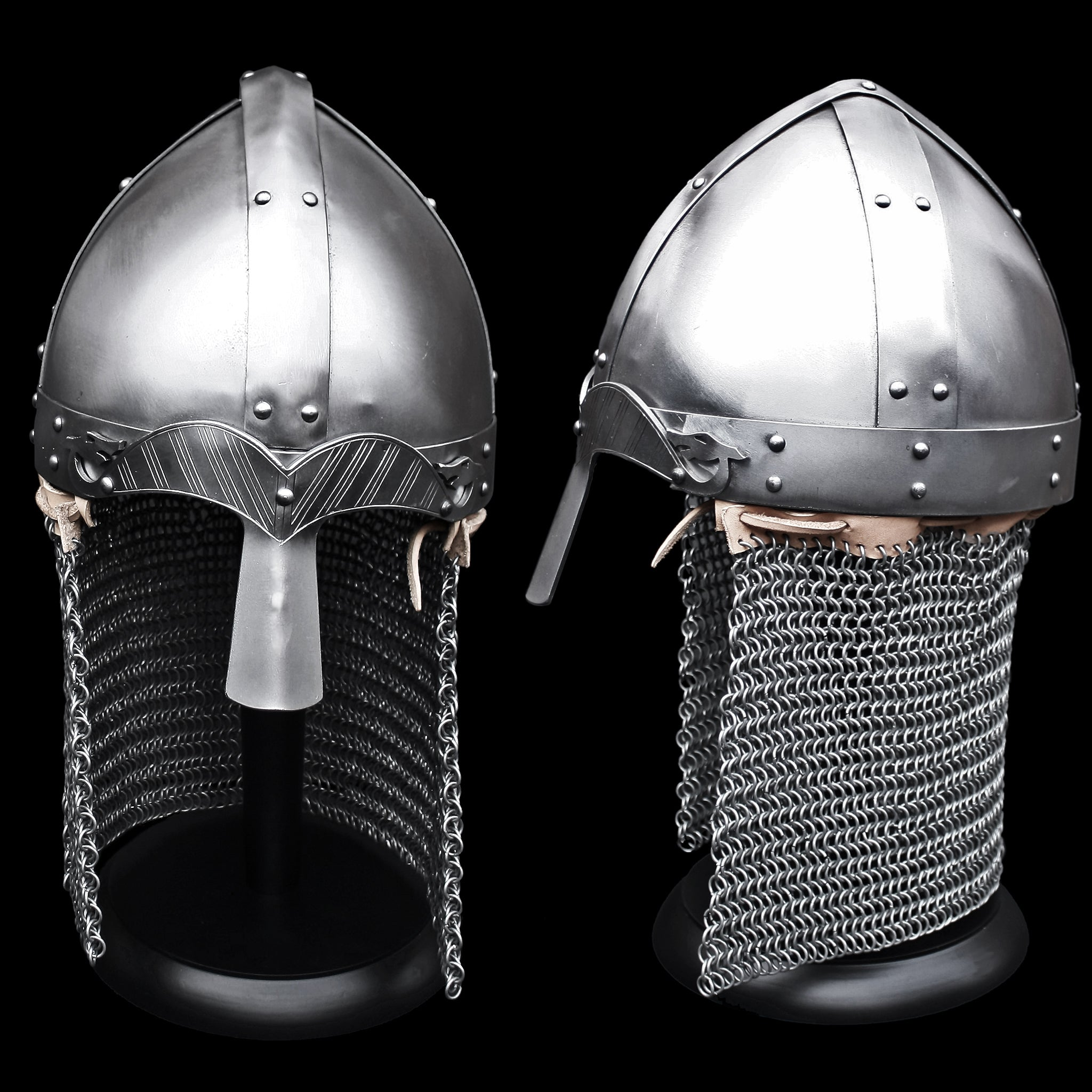Viking Nasal Spangenhelm Helmet with Aventail