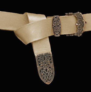 High Status Viking Belt With Bronze Fittings - Natural Veg Tan / Gokstad - Belts & Fittings