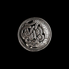 Load image into Gallery viewer, Gripping Beast Disc Brooch - Silver - Viking Brooches