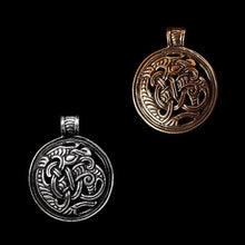 Load image into Gallery viewer, Round Dragon Beast Pendant - Viking Pendants
