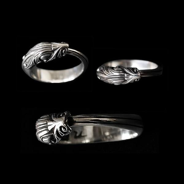 Silver Jormundgandr Serpent Ring - Viking Rings